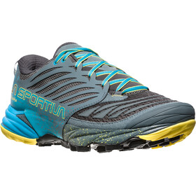 La Sportiva Akasha Running Shoes Men Slate/Tropic Blue